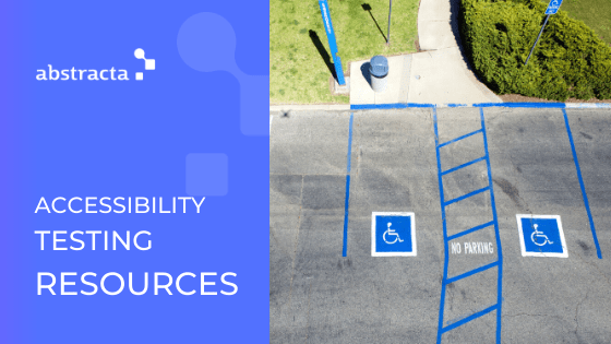 accessibility testing resources graphic