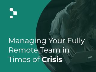 Remote team management video graphic